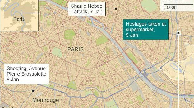 10 arrested in connection to the attacks on the Charlie Hebdo offices in Paris in 2015