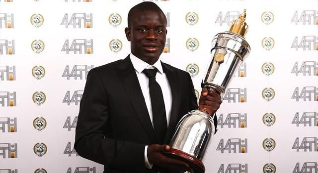 Chelsea midfielder N'Golo Kante named PFA Player of the Year for 2016-17