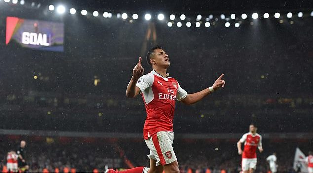 Alexis Sanchez Rekindles Arsenal's fading hopes of qualifying for the Champions League