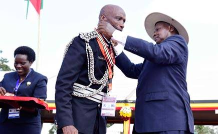 Kale kayihura approved by parliament as the Inspector general of police for the next 3 yrs