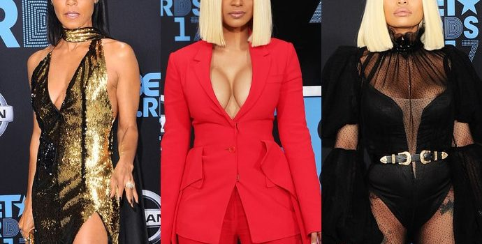 BET Awards 2017: Jada Pinkett Smith and Cardi B Ditch Bras, Blac Chyna Flashes Butt on Red Carpet