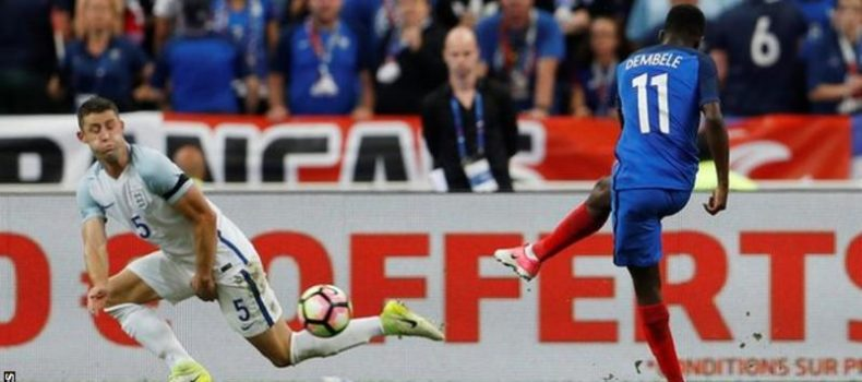 England Suffer Friendly Defeat by 10-man France