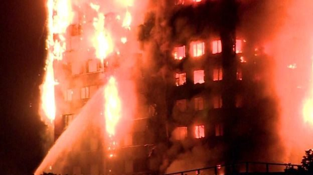 London tower block fire: Flames engulf Grenfell Tower