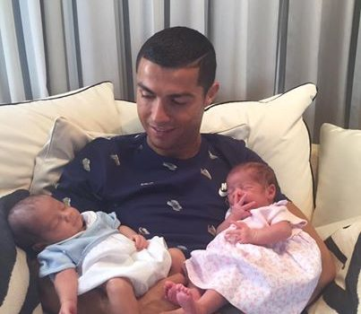 Cristiano Ronaldo Welcomes Twins Via Surrogate