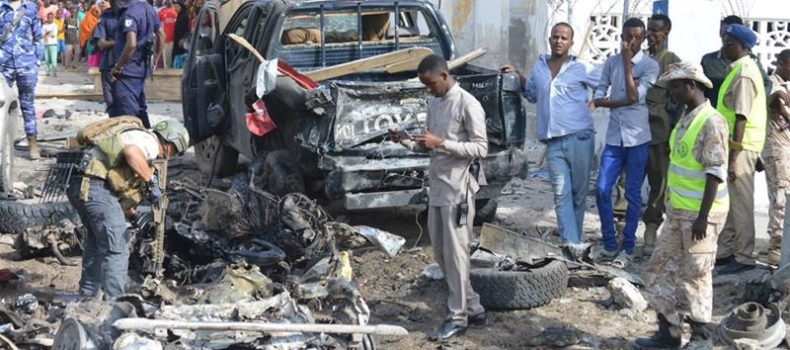 Four die in a car bomb attack in Mogadishu, Somalia.