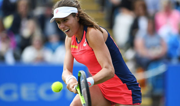 Johanna Konta returns to court today as she recovers from back injury