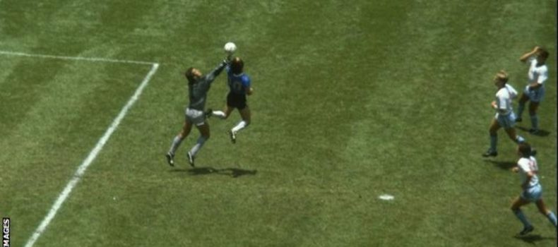 Diego Maradona backs video referees despite 'Hand of God' goal