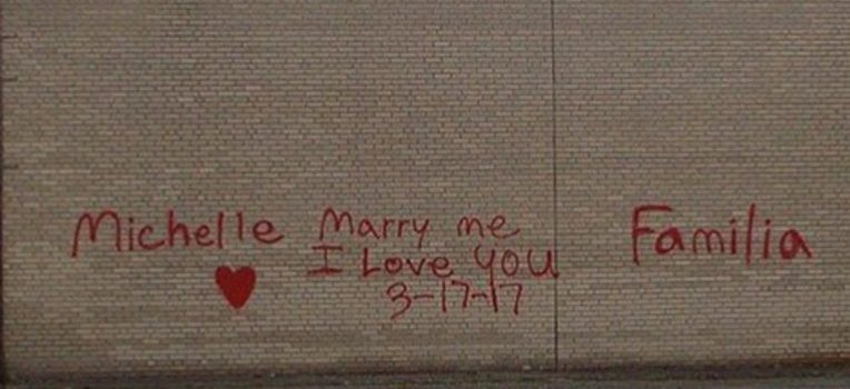 Ohio man Charged With Criminal Mischief After Spray-Painting Proposal On City Building