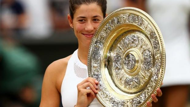 Spain's Garbine Muguruza wins her first Wimbledon title