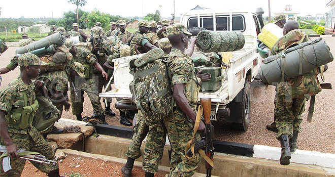 Last group of UPDF soldiers from CAR arrive in Uganda today,