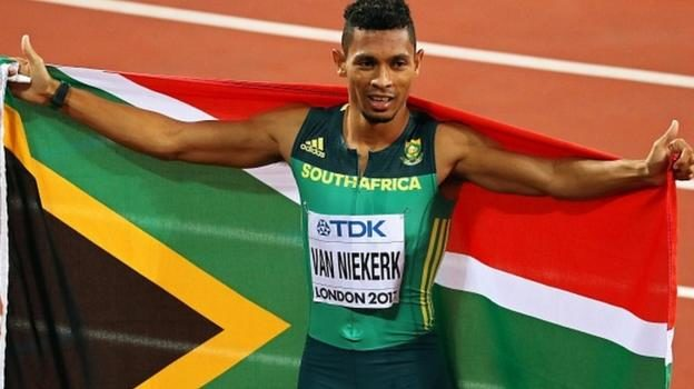 World Championships: Wayde van Niekerk storms to 400m gold in London