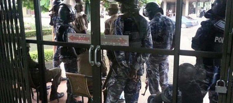 Police Clarify On Red Pepper Office Siege