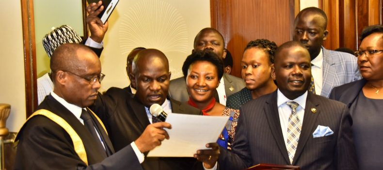 Paul Mwiru Takes Oath At Parliament