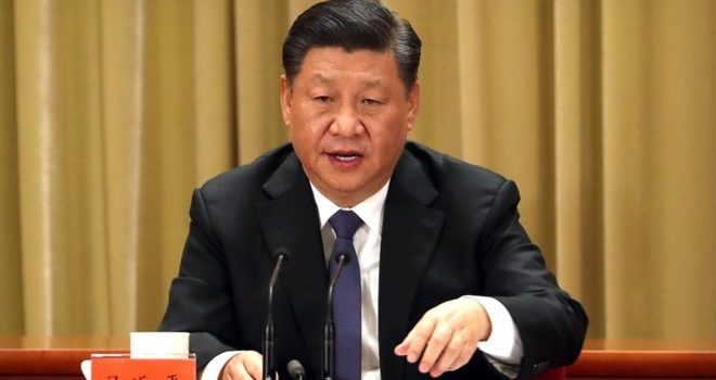 """Xi Jinping says Taiwan """"must and will be"""" reunited with China."""