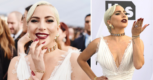 Screen Actors Guild Awards: Lady Gaga slays in white after surprise duet with Bradley Cooper.
