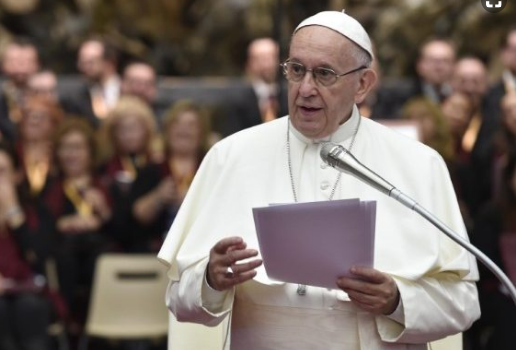 Pope urges Europan Union to show 'solidarity' with migrants stranded off Malta.