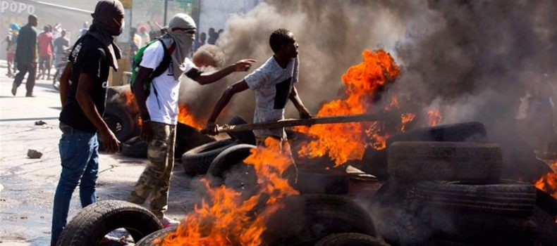 Haiti protesters call on President Jovenel Moise to quit.