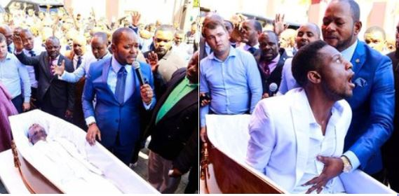 South African Funeral company directors to sue a pastor who claims to have performed what Jesus did.