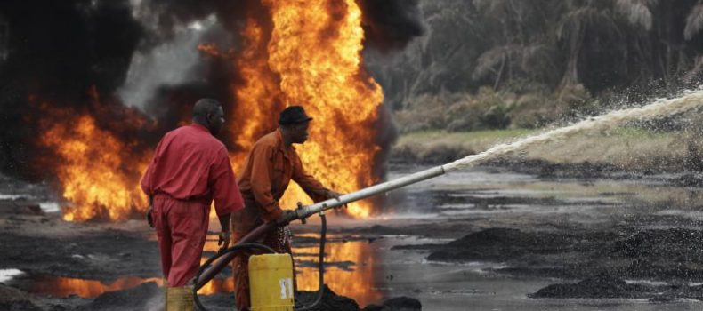 50 people missing following pipeline explosion in southern Nigeria.