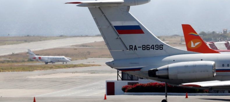 Russian 'military planes' land in Venezuela.