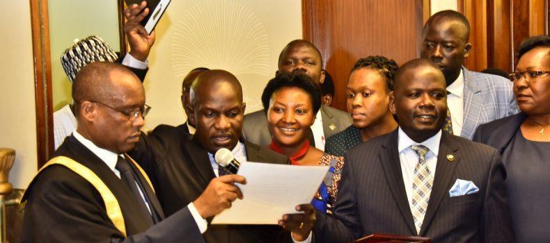Paul Mwiru Takes Oath At Parliament