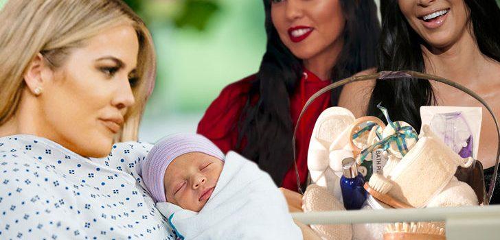 Kim & Kourtney Kardashian Leave Khloe With Her New Baby & Hop On Private Jet Back To LA