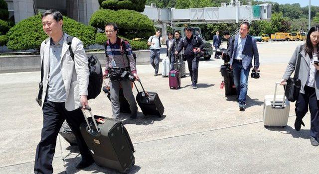 Foreign media start marathon journey to North Korea nuclear test site