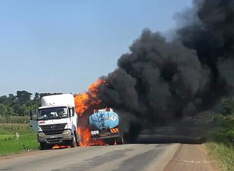 Fuel Siphoning Sets Two Trucks On Fire