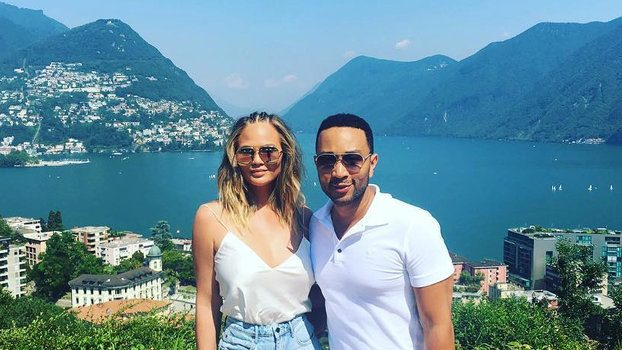 Chrissy Teigen is vacationing with her husband John Legend in Bali. At least 91 people died in the earthquake.