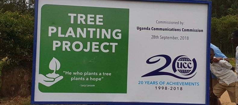 Ntungamo: UCC plants 7000 trees to mark 20 years of existance