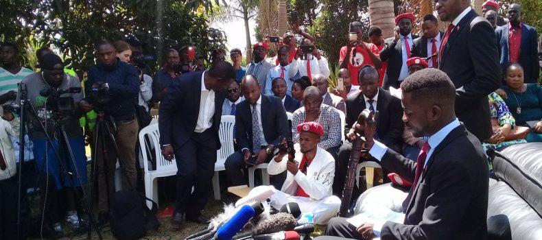 Bobi Wine explains people power movement, as he calls for men in uniform to respect citizens