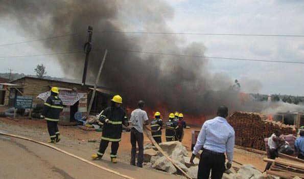 Fire Guts Ntungamo Market destroys property