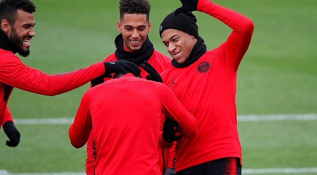 PSG's Neymar and Kylian Mbappe train ahead of mouth-watering Liverpool clash