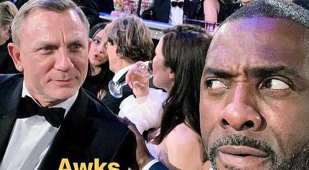 Golden Globes: Idris Elba continues to fuel Bond rumours as he jokingly takes 'awkward' selfie with current 007 actor Daniel Craig