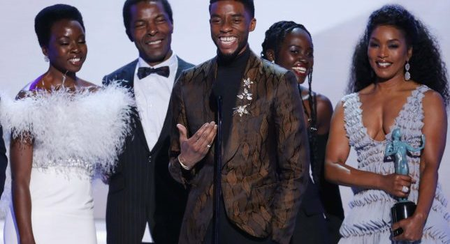 Chadwick Boseman shares passionate speech as Black Panther beats A Star Is Born at SAG Awards.
