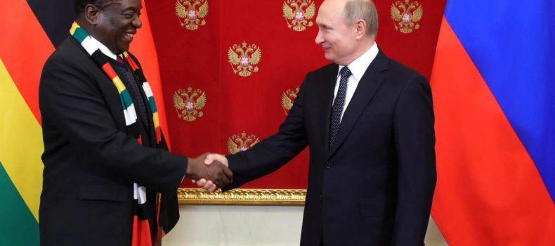 Mnangagwa begs Putin to help him develop Zimbabwe.