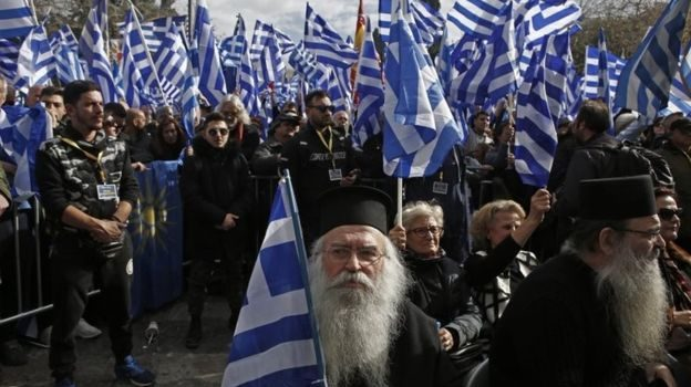 Macedonia and Greece; Clashes in Athens over neighbour's name change