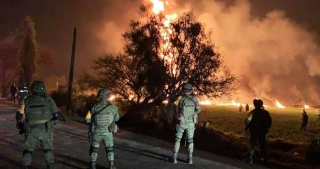 Mexico pipeline kills 21 and injures dozens.