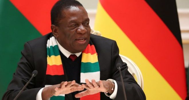 Zimbabwe president abandons Davos trip amid unrest.