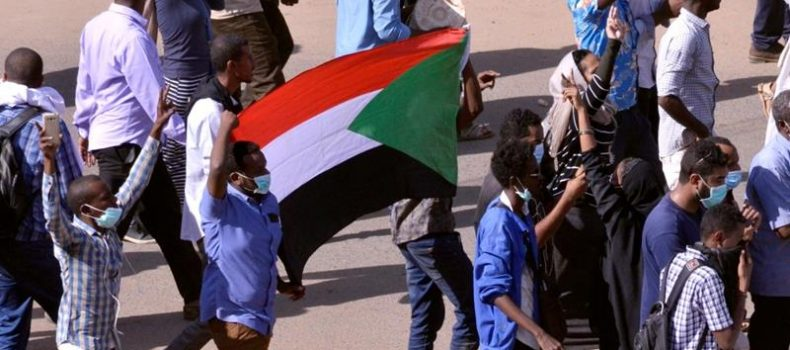 Thousands join Sudan sit-in protest.