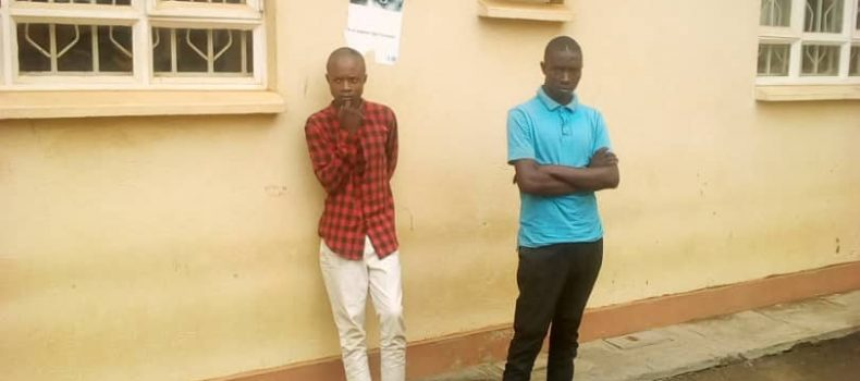 Two Machete wielding men who have been terrorizing Mbarara arrested