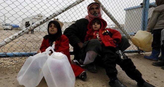 Displaced babies die due to freezing weather in syria war.