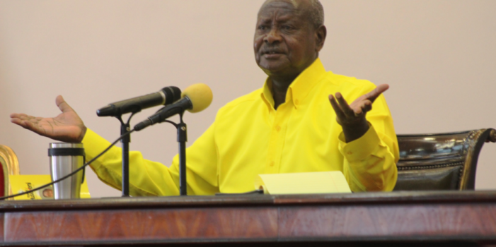 President Museveni meets NRM Mps at State House, Entebbe today
