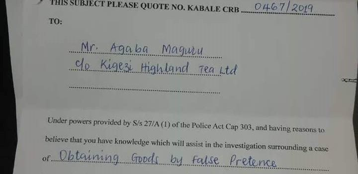 Kigezi Highland tea ltd Tycoon Garuga sued by his son, politics cited in this saga.