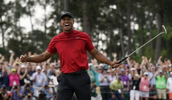 Tiger Woods wins 2019 Masters at Augusta to claim 15th major.
