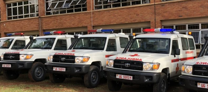 Uganda receives ambulances to fight Ebola