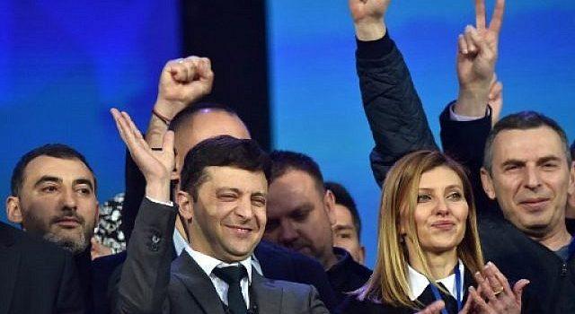Comedian Zelensky wins presidency by landslide in Ukraine.