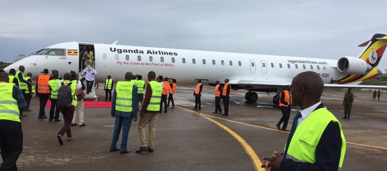 Excitement as President Museveni receives first two Bombardier Uganda Airlines