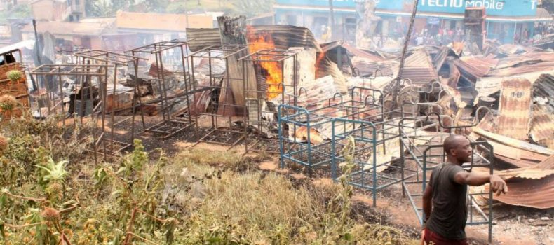 President Museveni's donation destroyed by fire,One person dead.