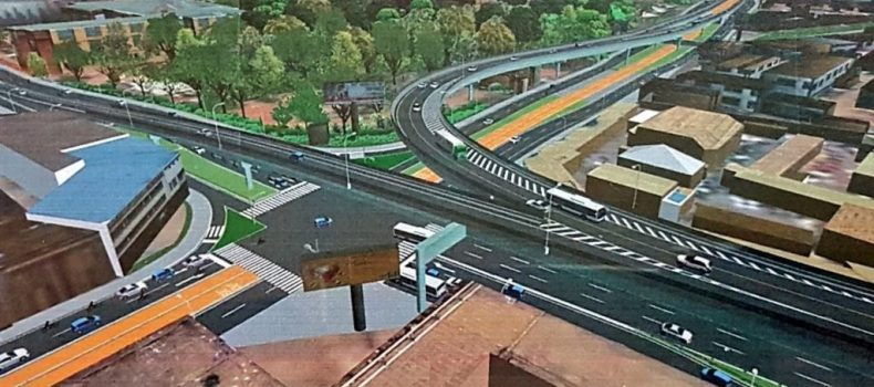 Contractors for Kampala Flyover and Road Upgrading project begin the upgrade of roads.